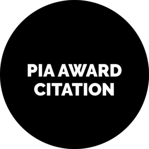 PIA Award Citation - Icon