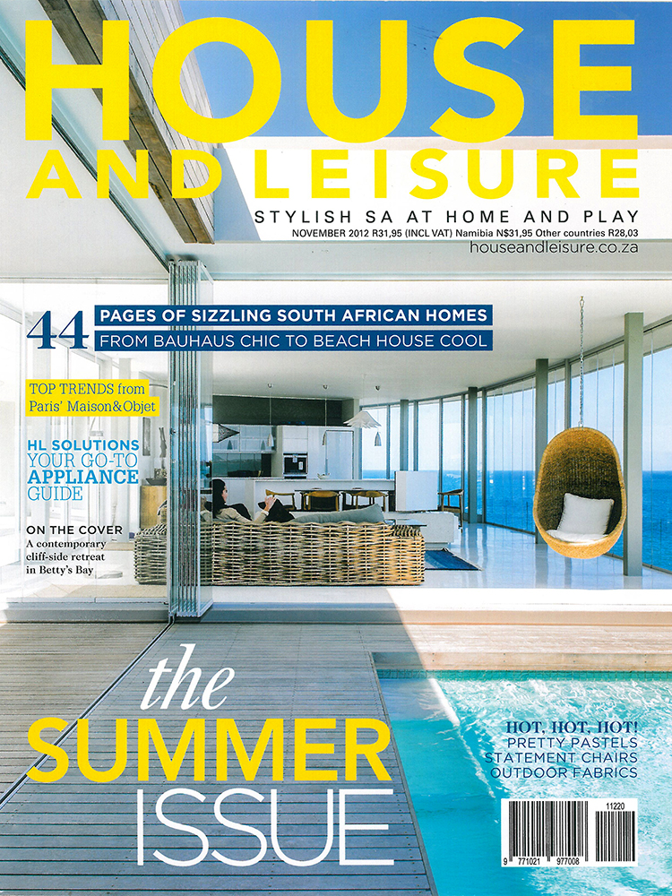 MAAA - Publications - House and Leisure November 2012