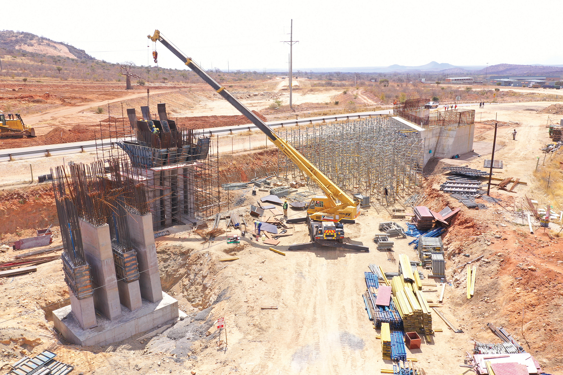 Construction of the Musina Hand Bridge